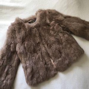 Jackets & Blazers - 100% Real Rabbit Fur Coat